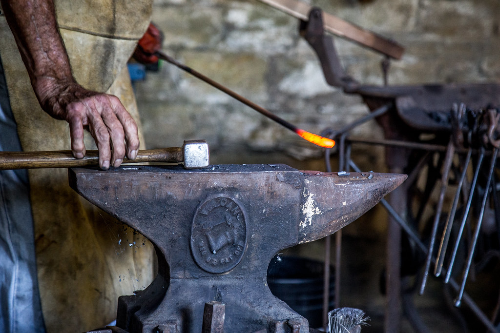 """Blacksmith"" by Phil Roeder is licensed under CC BY 2.0"